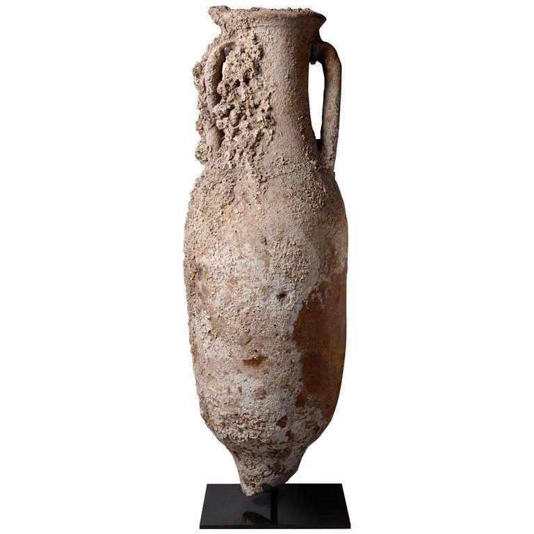 1stdibs Ancient Roman Shipwreck Salvaged Amphora 100 Ad