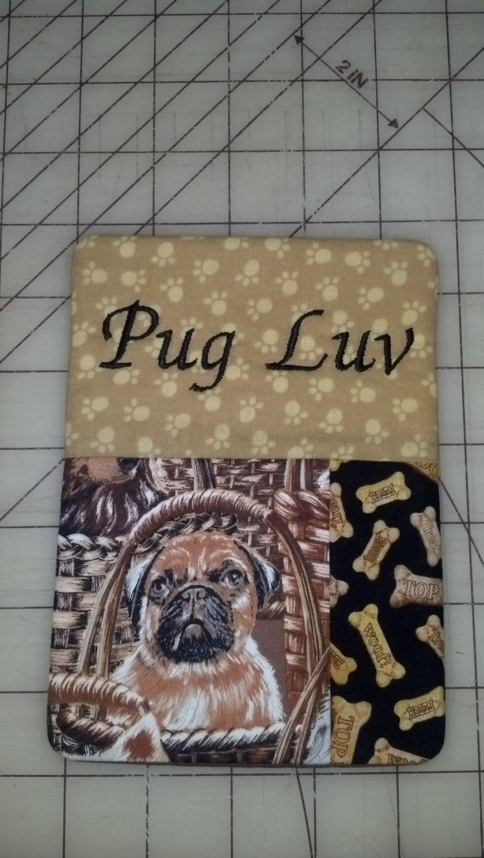 Cute PUG LUV Mug Rug by AnneMarieSewing on Etsy, $9.95