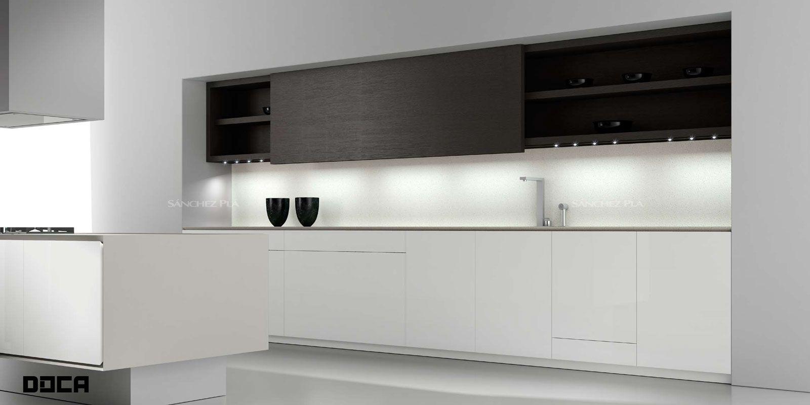 Mueble de cocina de puertas acrílicas pintadas Ecopal de Doca ...