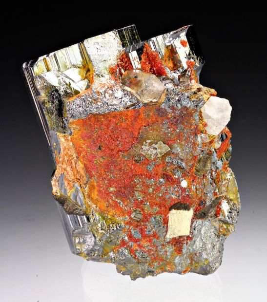 Bournonite and Quartz - Yaogangxian Mine, Chenzhou, Hunan, China.
