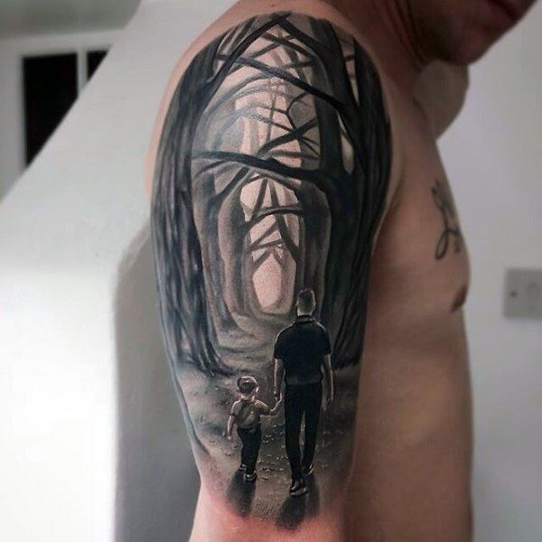 wood tool tattoos. incredible woods male father and son tattoos ideas wood tool a