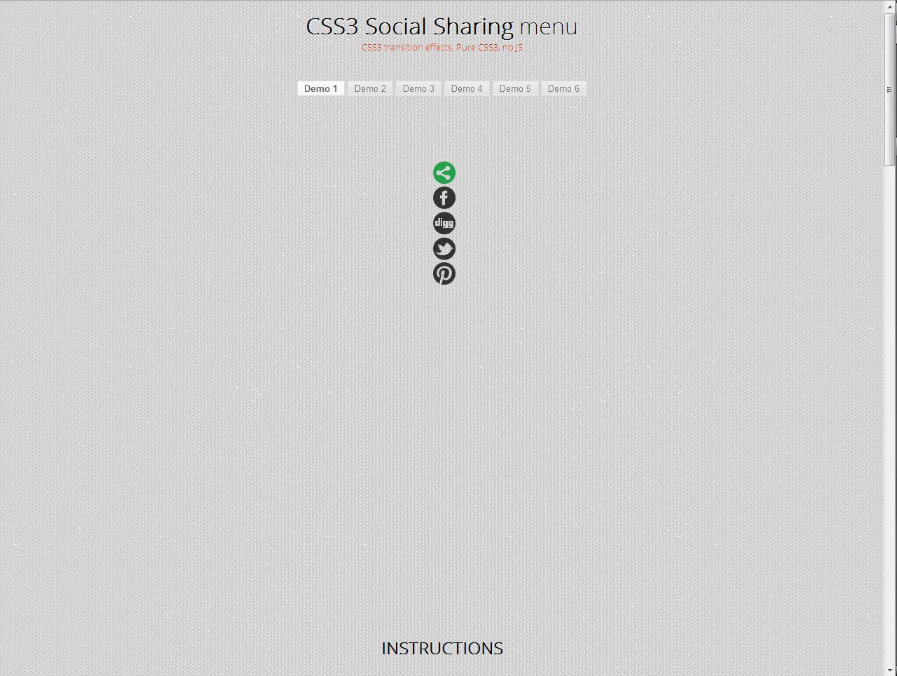 CSS3 Social Sharing Menu Social icons, Browser support