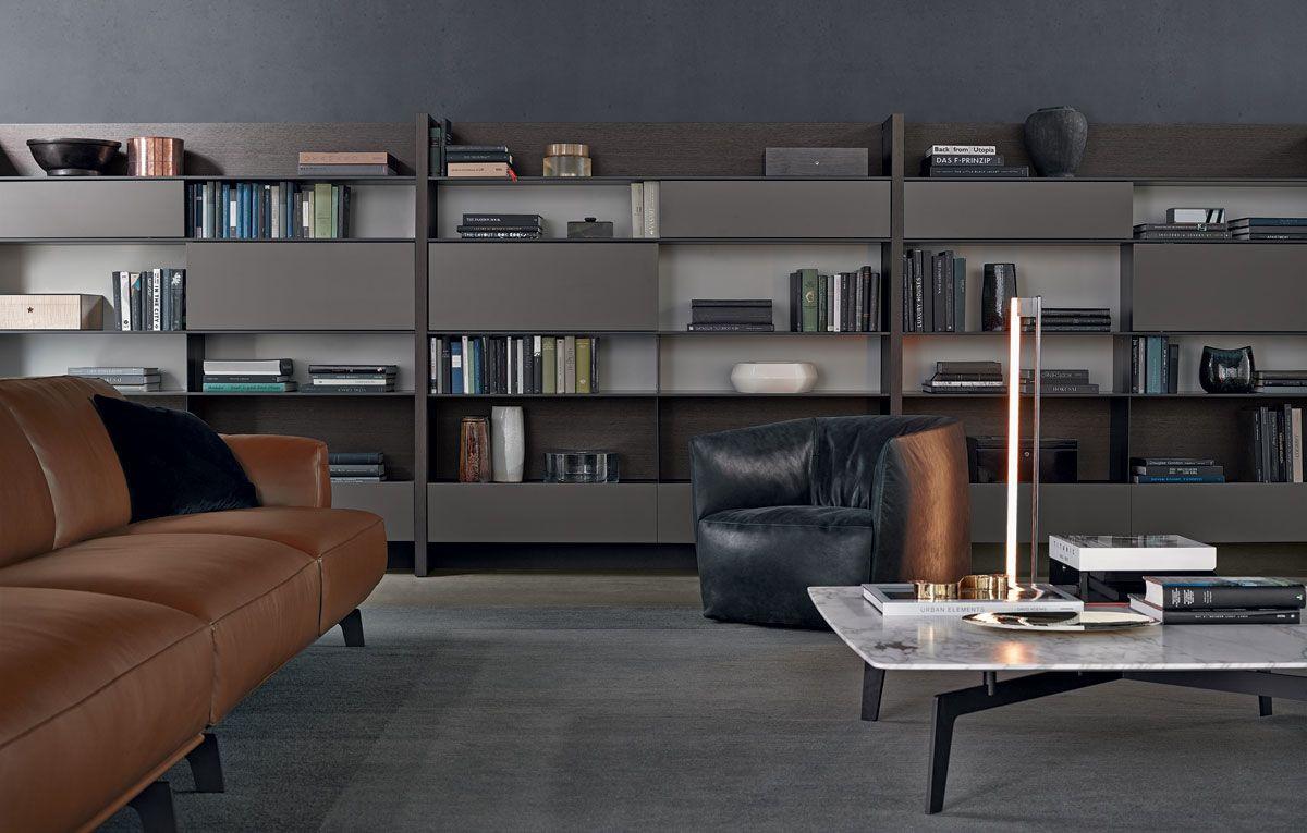 Soggiorno poliform ~ Libreria wall system poliform tomassini arredamenti living