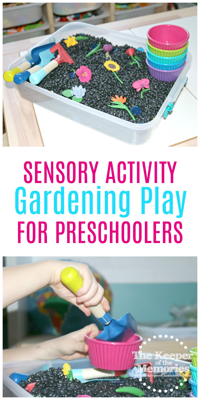 Planting Flowers Sensory Bin Gardening Activity For