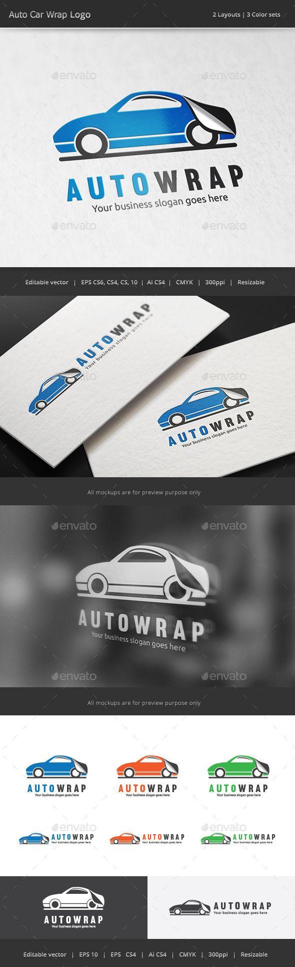 Car sticker design psd - Car Sticker Wrap Logo