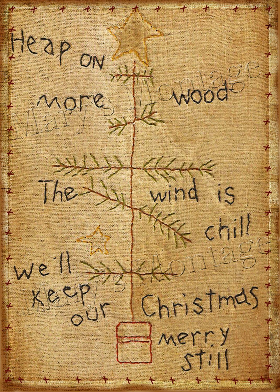 Primitive Christmas Stitchery