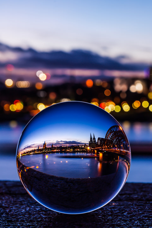 The Cologne Cathedral captured in a crystal ball by Vivien ...