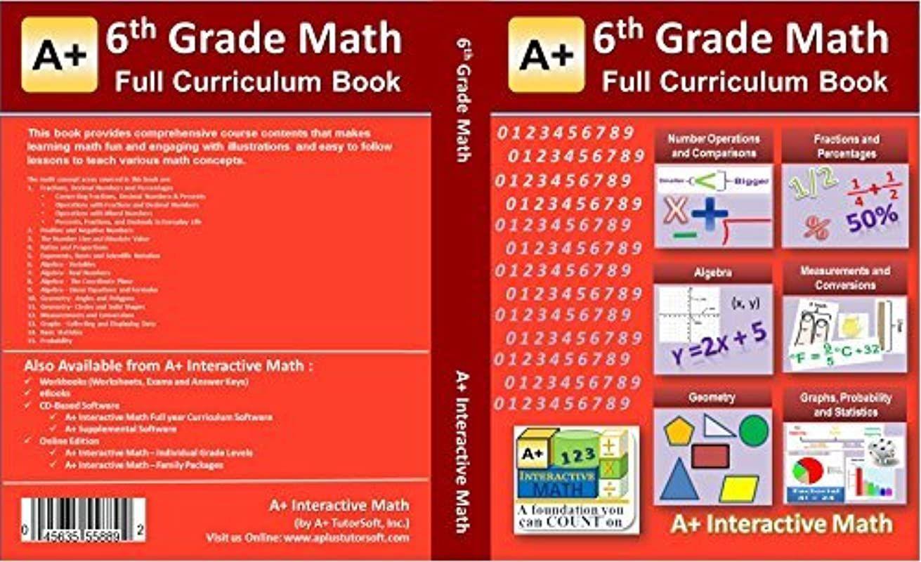 Epub 6th Sixth Grade Math Textbook 129 Lessons 518 Pages Printed B W Curriculum For Homesch Math Textbook Sixth Grade Math Math