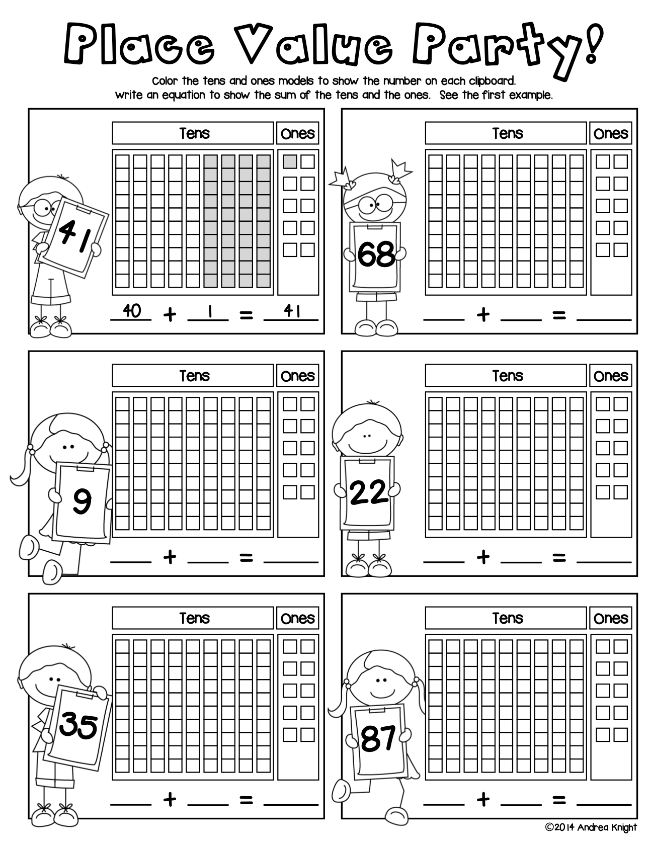 Place Value Math Practice Worksheets For Grades 1 2