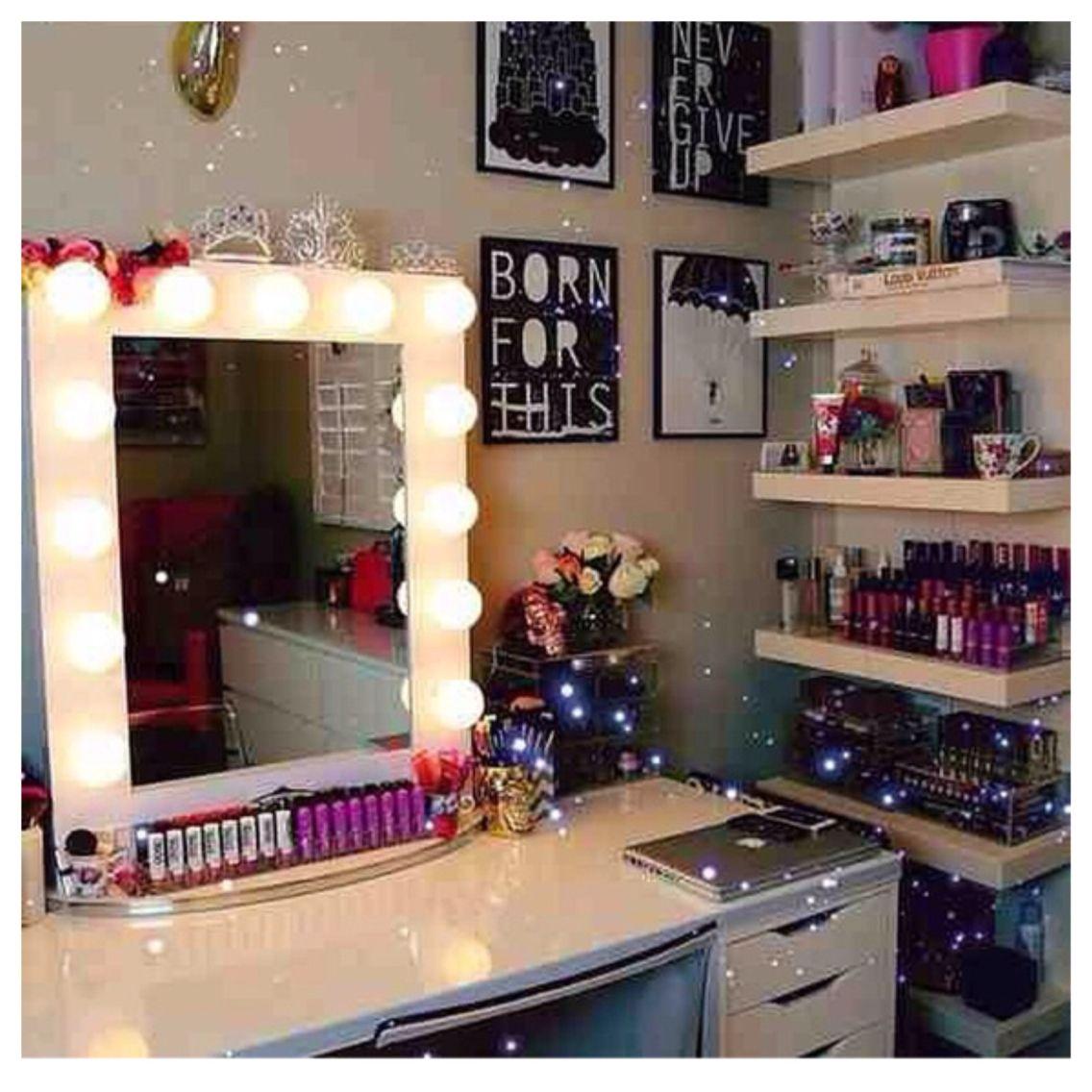 Organized make up area