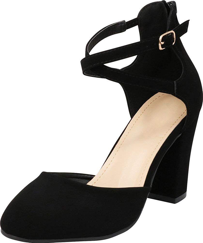 3ba35ed0748d5 Cambridge Select Women's D'Orsay Closed Toe Crisscross Ankle Strap ...