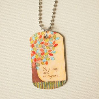 Be Strong And Courageous Dog Tag Necklace Vbs Craft Be Strong