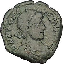 Magnus Maximus 383AD Authentic Ancient Roman Coin Military camp gate i53265