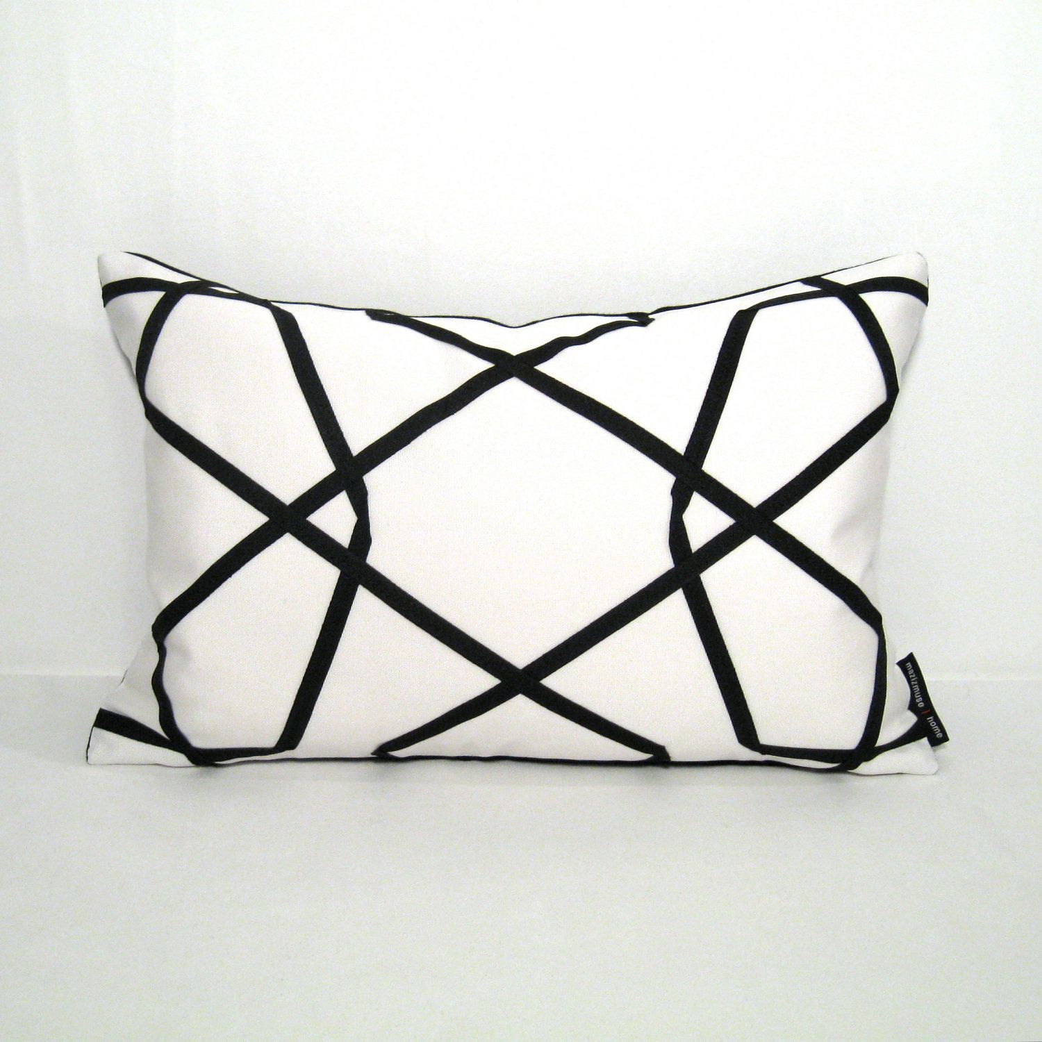 Decorative Outdoor Pillow Cover Modern Black White Pillow Etsy White Pillow Covers Modern Outdoor Pillows Black And White Cushions