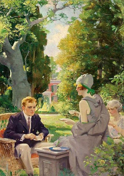 Afternoon Tea -Charles Edward Chambers (1883 – 1941)