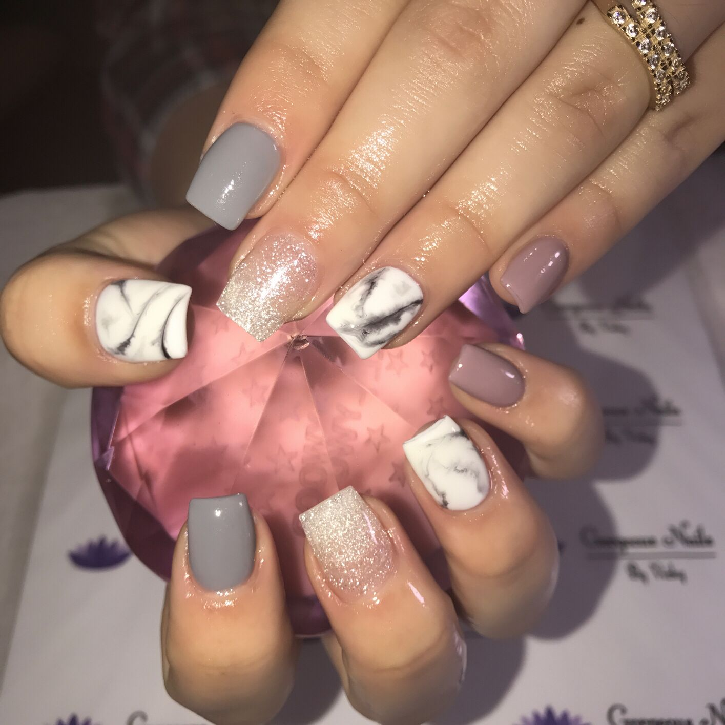 Classic short square acrylic nails | Gorgeous nails by ...
