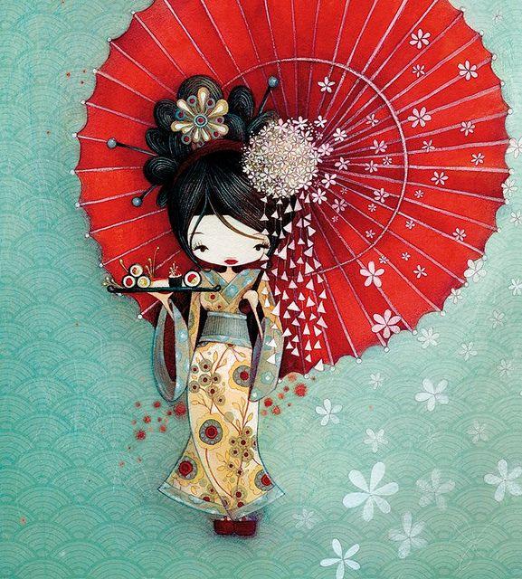 La geisha Ketto's geisha by Ketto Design, via Flickr