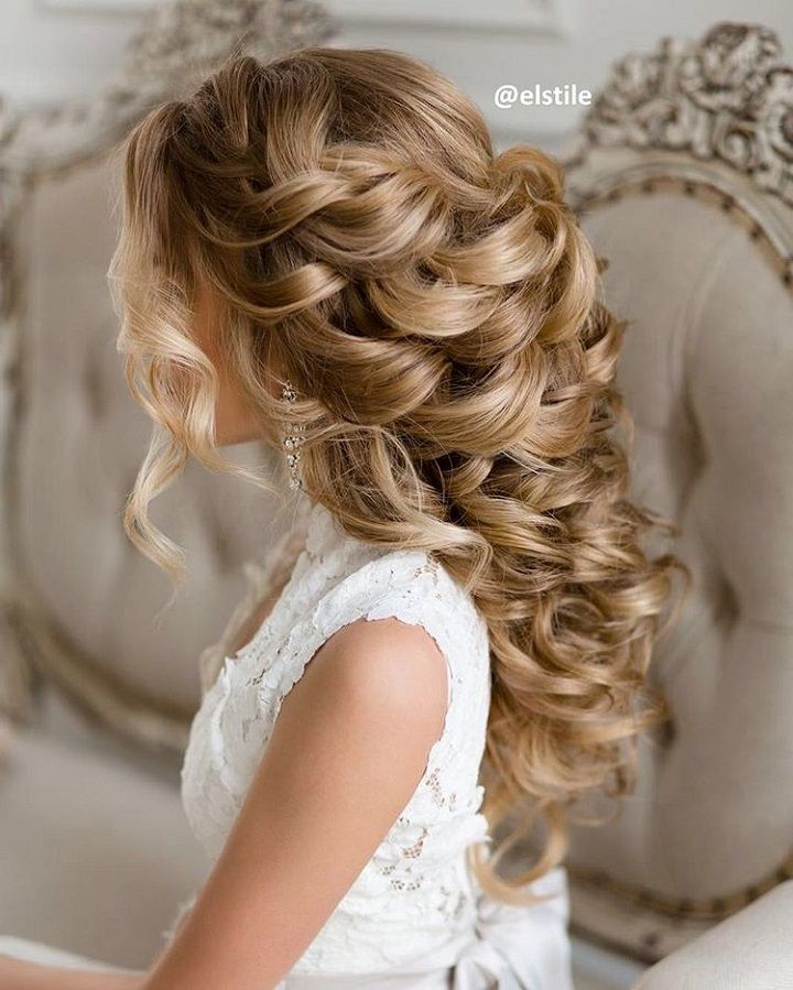 30 Creative And Unique Wedding Hairstyle Ideas: Curly Wedding Hairstyle For Naturally Curly Hair