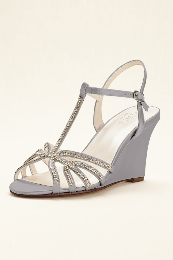 003105e8ef3d 10829076 - Crystal T-Strap Satin Dyeable Wedge