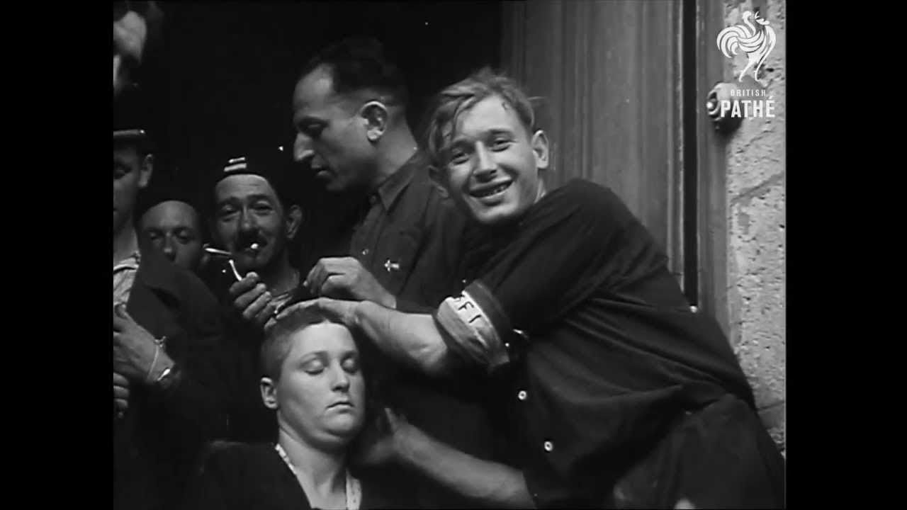female collaborators punished after the liberation of france