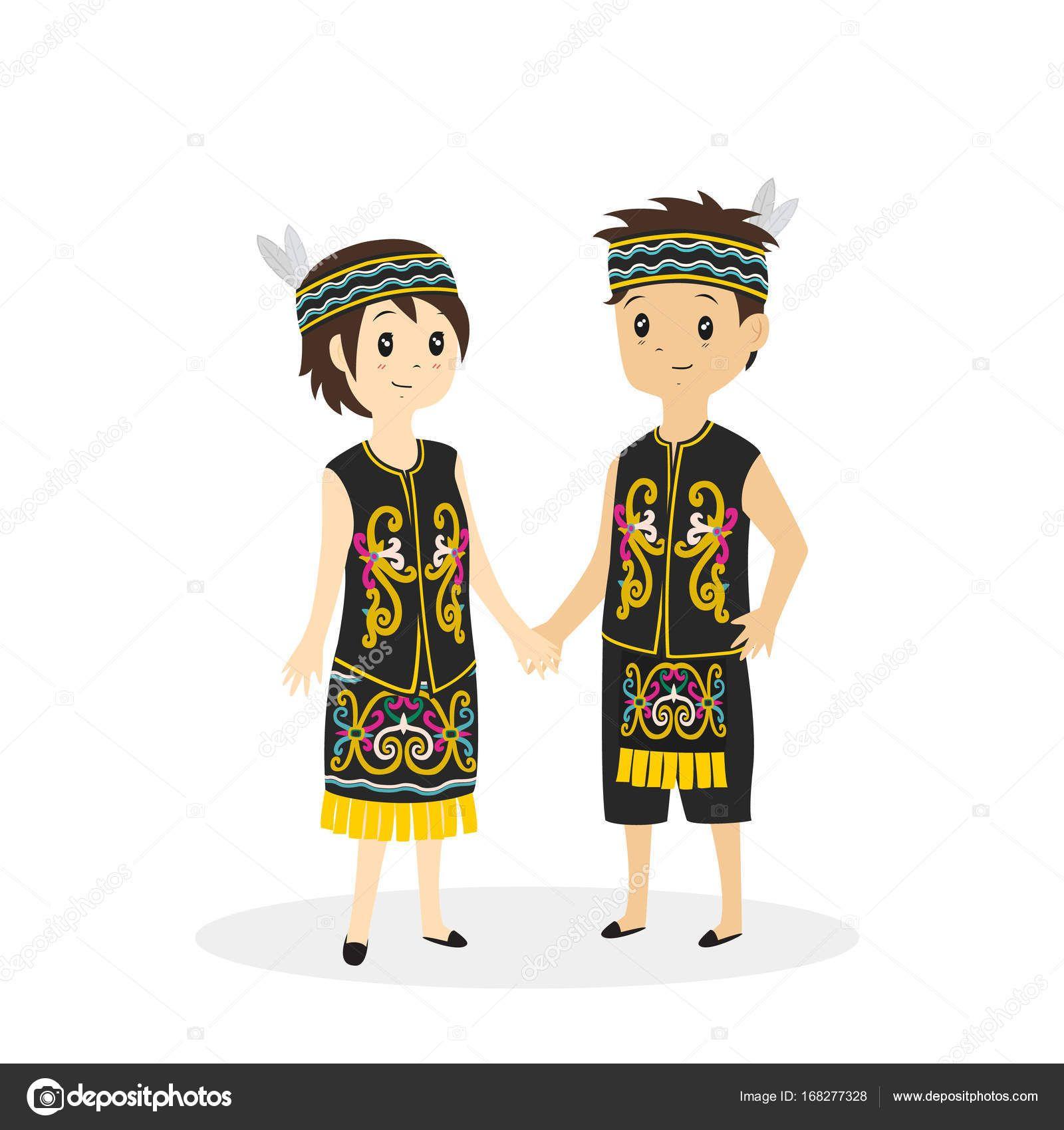 Pakaian Adat Bali Kartun