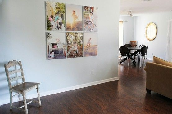 Group Of Six Large Canvases For A Sleek Layout Photo Wall Display Wall Large Wall Decor