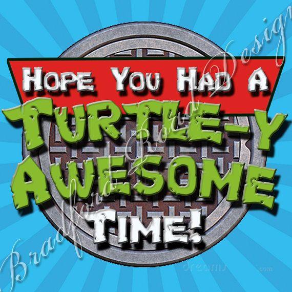 TMNT Teenage Mutant Ninja Turtles Favor Tags Customizable by Bradford Road Designs via Etsy