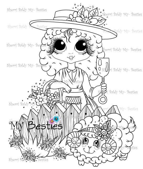 No Need To Spend A Fortune On These: INSTANT DOWNLOAD Digital Digi Stamps Big Eye Big Head