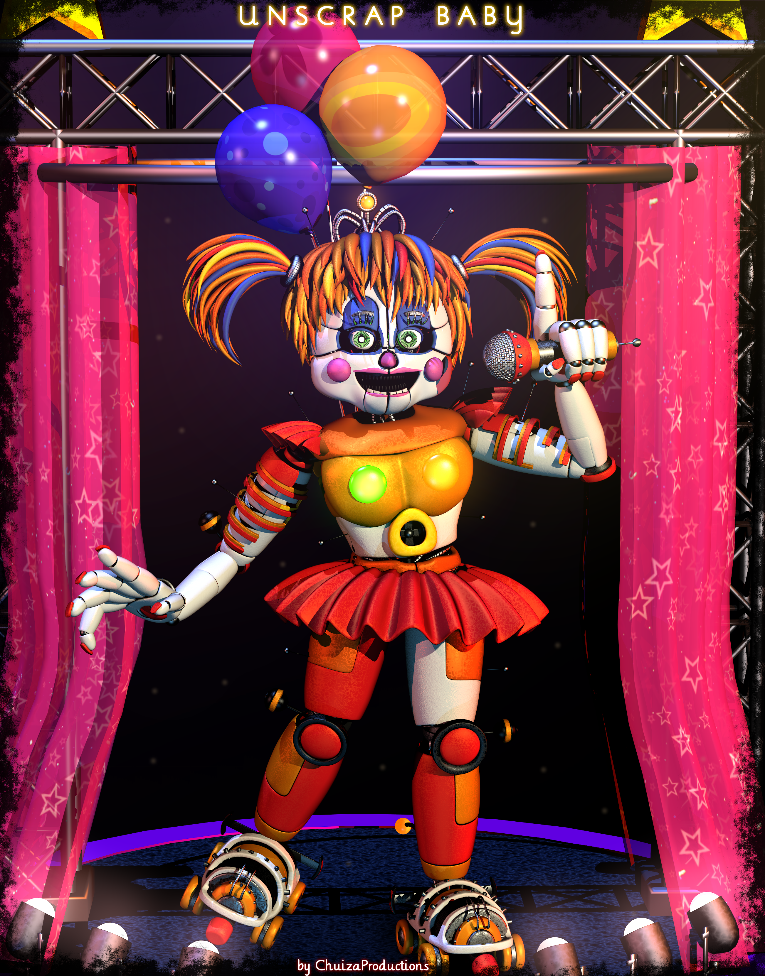 Five Nights At Freddy S Circus Baby Wallpaper Unscrap Baby Fullbody Fnaf 6 Ffps By Chuizaproductions Fnaf Fnaf Wallpapers Fnaf Baby