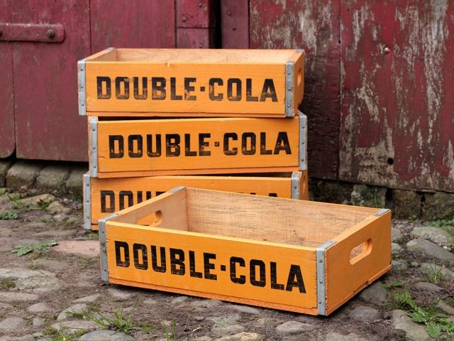 Vintage Double Cola Bottle Crate Double Cola Old Crates Crates