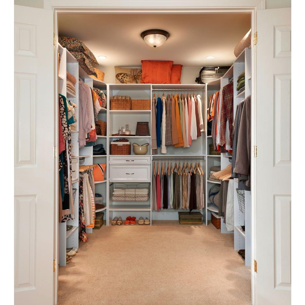 Closetmaid Selectives 24 In W X 5 In H White Wood Drawer Kit For 25 In Selectives Tower 4944 The Home Depot In 2021 Closet Layout Closet Renovation Bedroom Closet Design