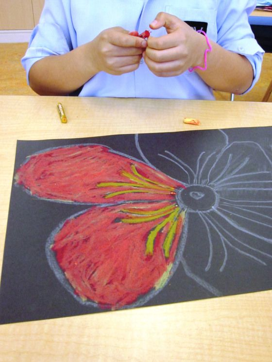 Oil And Chalk Pastels In Grade Two Art Lessons For Kids Art Ed
