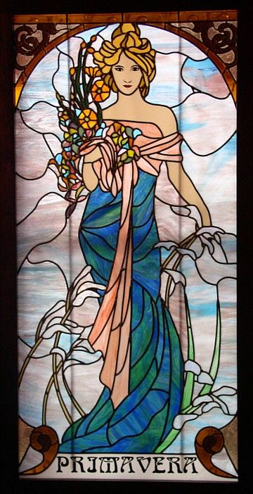 Made by Olimpia Perez,San Antonio, TX, United States,inspired by A. Mucha