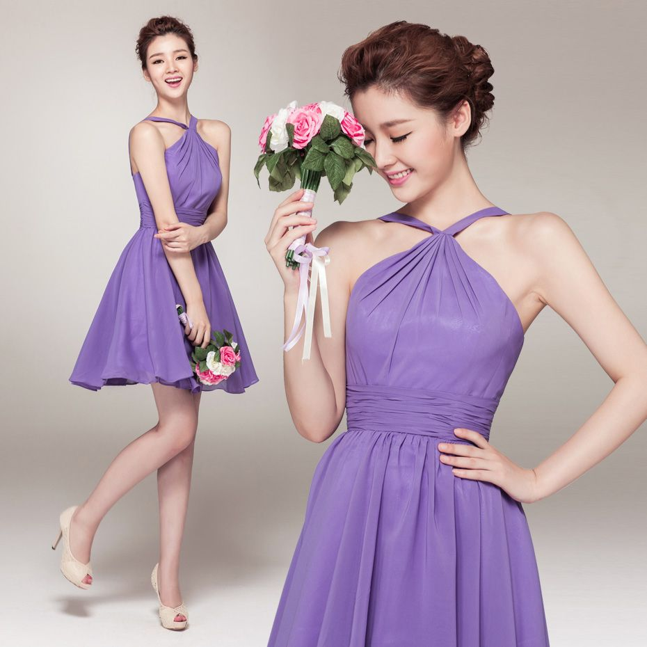 halter short lavender bridesmaid dresses uk | Bridesmaid Dresss ...