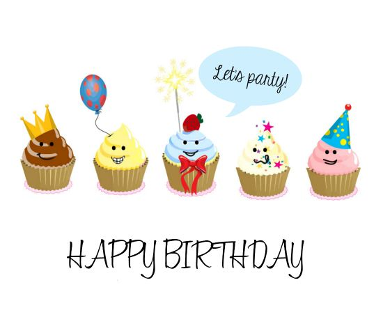 Have a #Cupcake party with your gang on your #bestfriends #birthday with this cute #ecard. #HappyBirthday #free #cards #greetings #wishes.