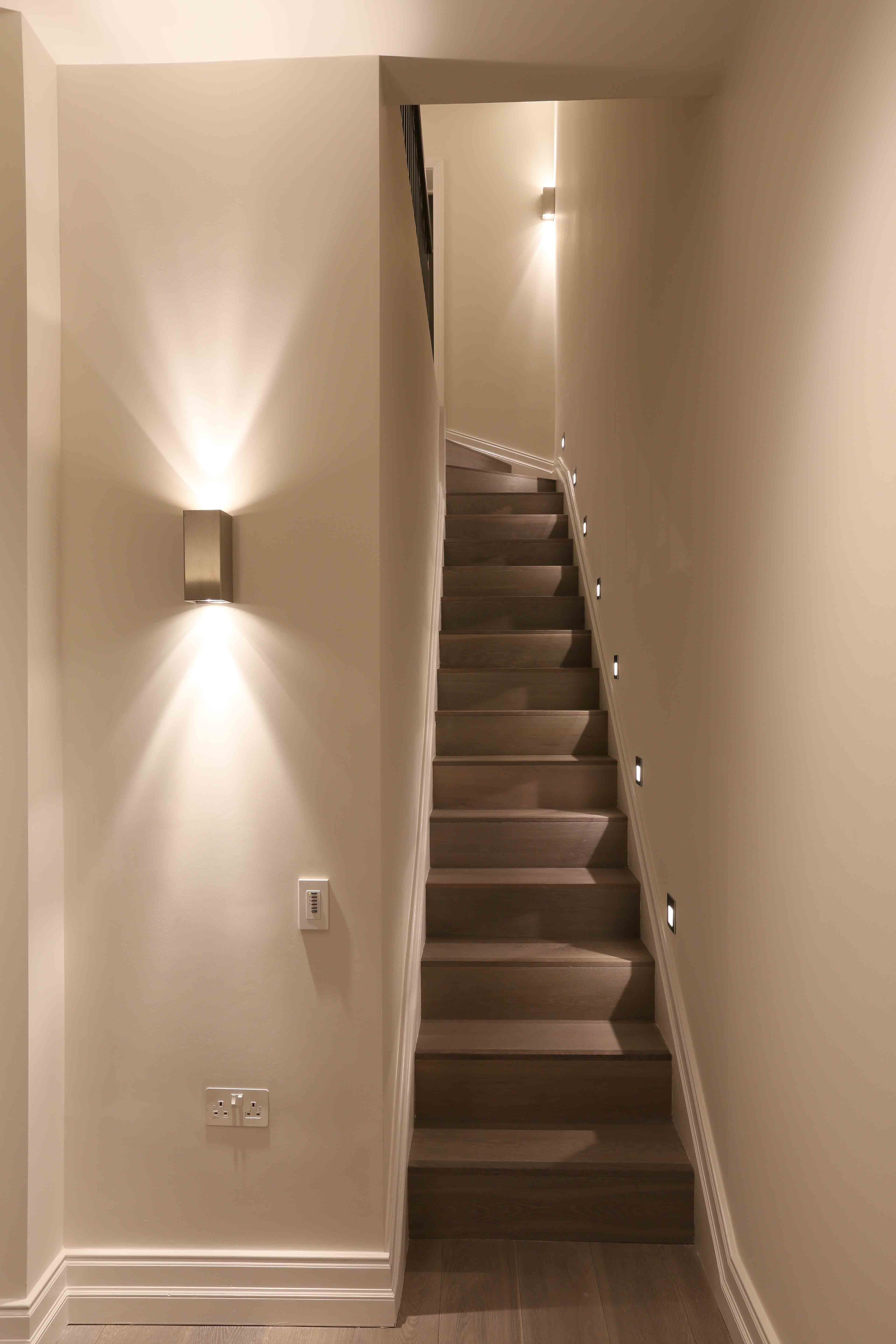 Lighting Basement Washroom Stairs: Staircase Lighting Design By John Cullen Lighting