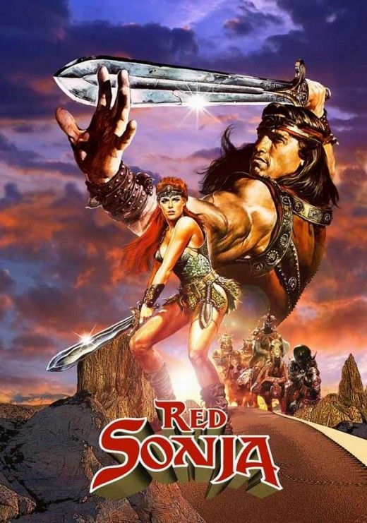 Red Sonja 1985 Arnold Schwarzenegger cult movie poster print