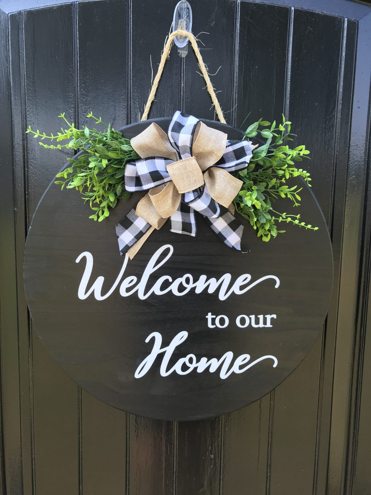 Door Hanger Welcome To Our Home Sign Welcome Wood Sign Welcome Wreath Front Door Decor Sign Realtor Gift For Clients Christmas Decor Diy Door Hangers Realtor Closing Gifts