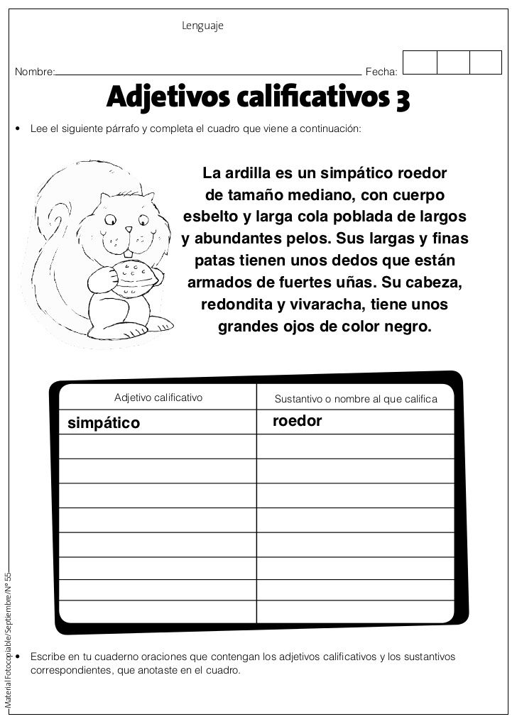 Adjetivos calificativos comprensi n short vowels for Aplicaciones para disenar cuartos