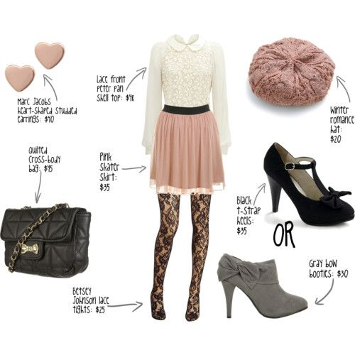 I would wear this if the tights weren't so lacy. It makes it look scandalous