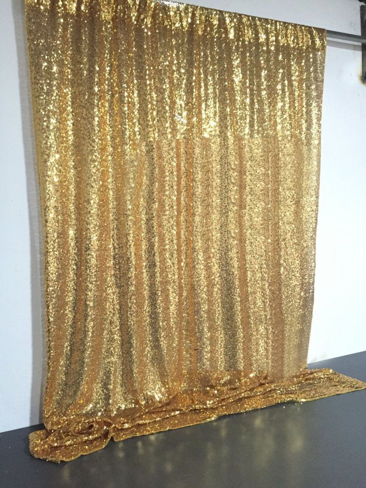 4ft X 6ft Gold Sequin Photo Backdrop Wedding Booth Photography