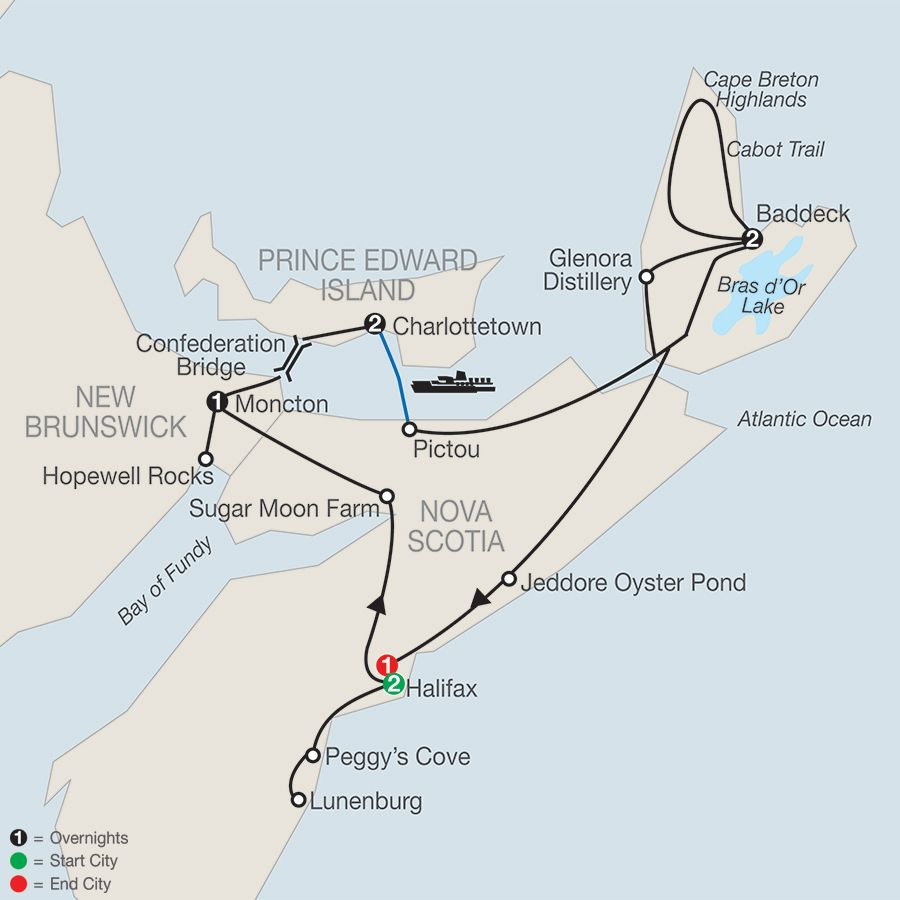 Nova Scotia Prince Edward Island  Cape Breton Tour  Islands