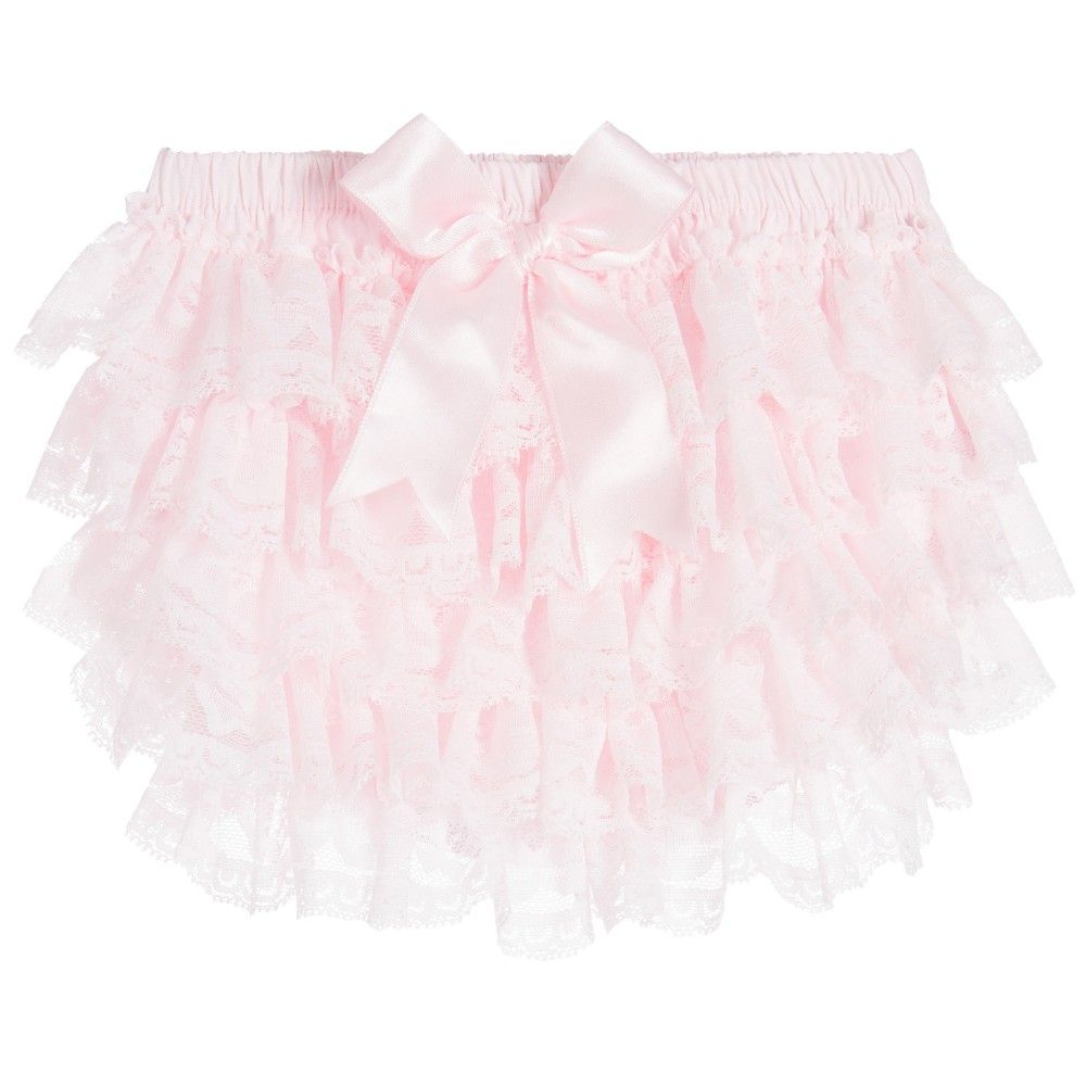 54a762e433e Couche Tot Baby Girls Pink Frilly Lace Pants at Childrensalon.com ...