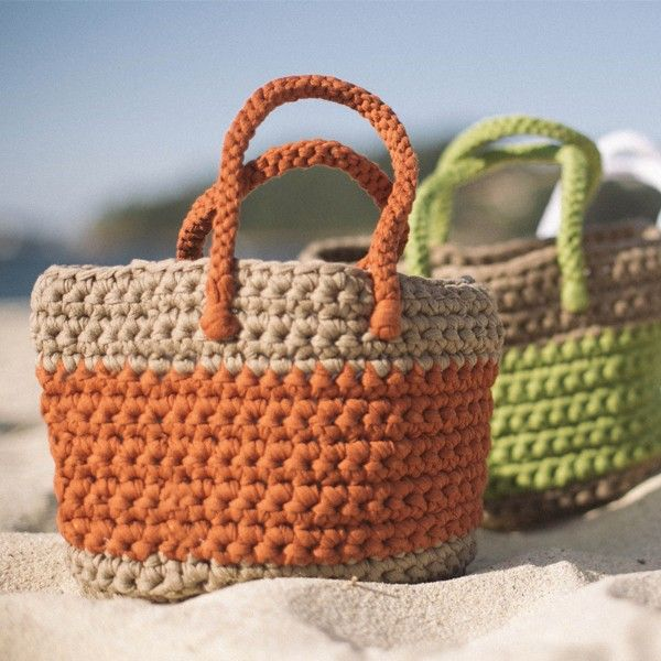 Haakpatroon Big Ribbon Mand Crocheted Bags Crochet Crochet