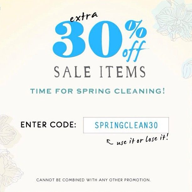 Time to make room in your closet. This #sale is major! Use code: SPRINGCLEAN30 #Padgram