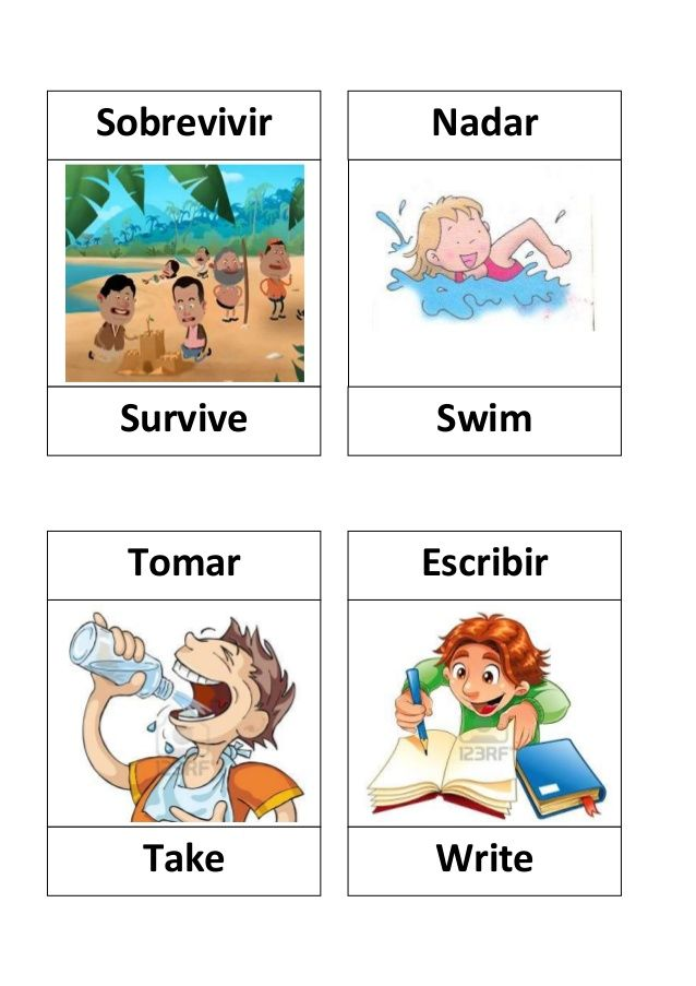 Verbos En Ingles Con Dibujos Learning Spanish Vocabulary Learning Spanish Learn English
