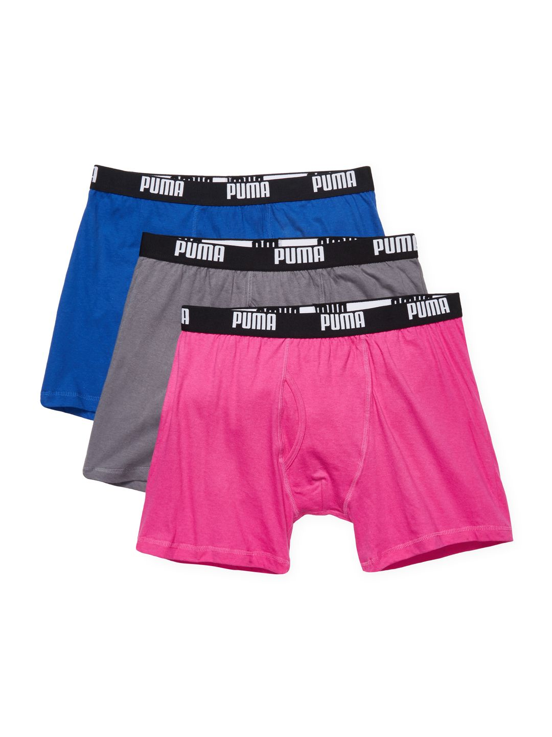 PUMA MEN'S COTTON VOLUME BOXER BRIEF (3 PK) SIZE S. #puma