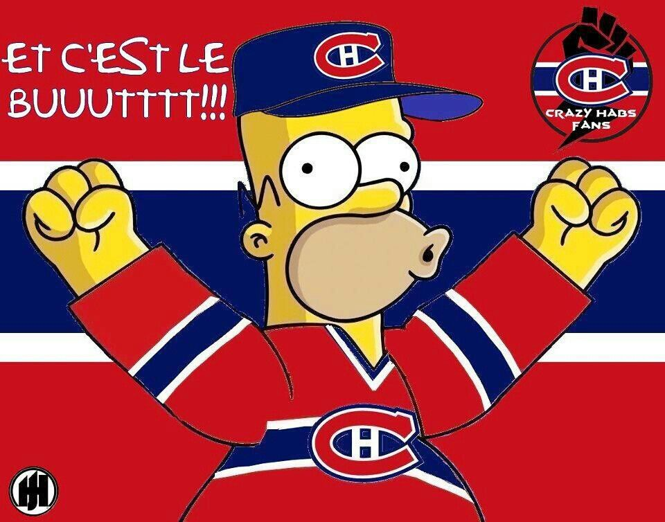 Pin By Ac Filteau On Simpsons Montreal Canadians Montreal Canadiens Canadiens