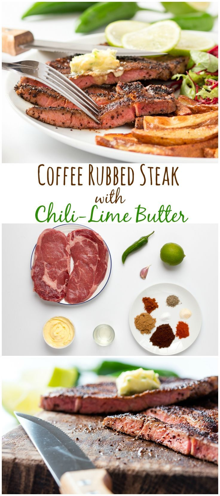 Coffee Rubbed Steak Recipe Meat Recipes Beef dishes