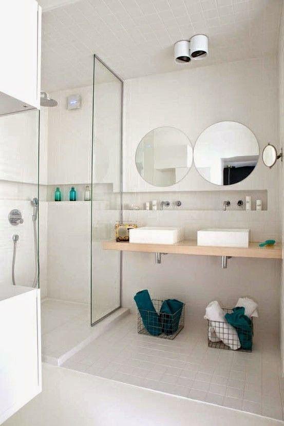 73 ideas de decoraci n para ba os modernos peque os 2019 for Banos modernos para espacios pequenos